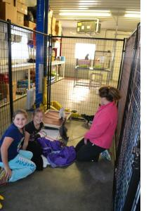 kids with kitty volunteers 11-16