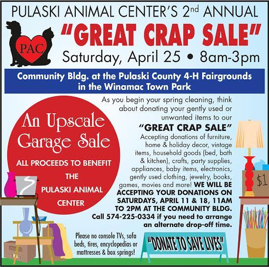 garage sale pulaski animal center