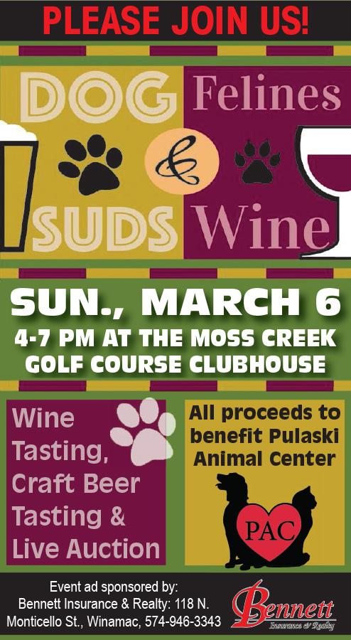 PAC dog suds feline wine Bennett 2x6 #09 16